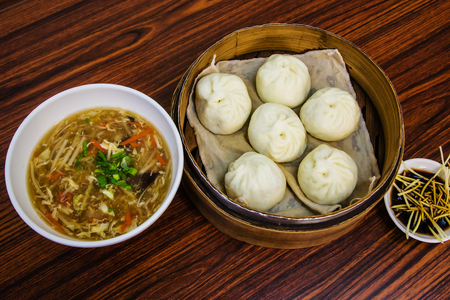 and distinctive: Taiwan Distinctive Traditional Food of Xiao long bao with hot and sour soup