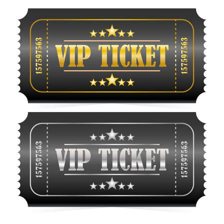 Golden and Silver VIP tickets.