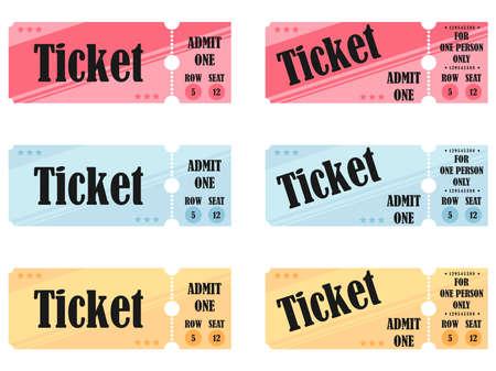 Set of retro vintage ticket templates. Illusztráció