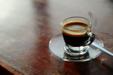espresso in transparent short cup Stock Photo - 15628780