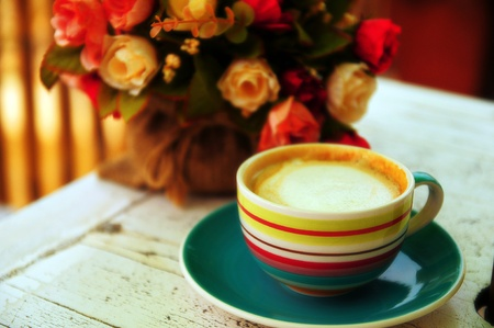 Color full of Cappuccino with rose