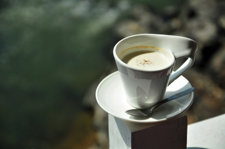 Matcha green tea in modren cup Stock Photo - 15904533
