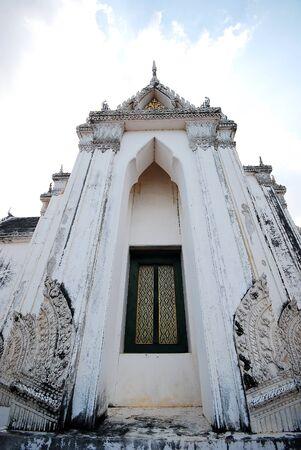 Tall windows at khao wang, historical park in Phetchaburi  Stock Photo