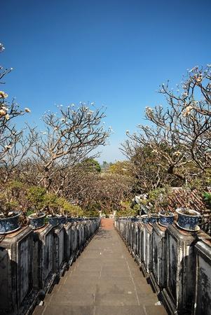 Staircase at khao wang, historical park in Phetchaburi