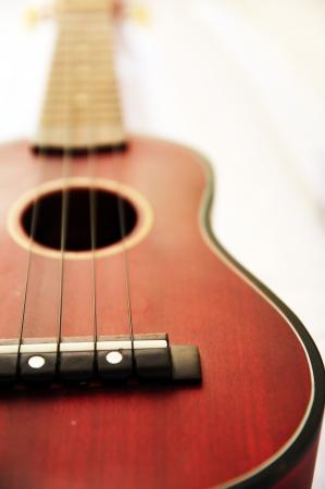 Brown ukulele Stock Photo