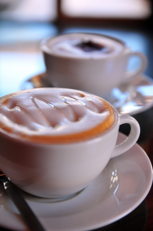 Syrup cappuccino and mocha coffee