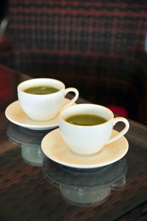 Two cups of green tea Stock Photo - 16221600