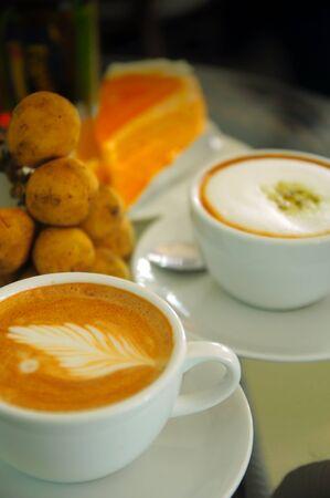relent: Cappuccino e latte t� verde con arancia e Duk