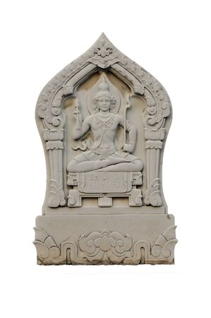 presage: Vishnu in a Boundary marker of a temple