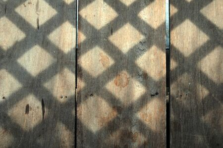 Light and shadow from lattice Stock Photo