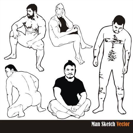 male body sketch vector Stock Vector - 18473062