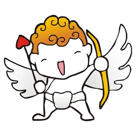 genial: baby cupid Archer valentine cartoon vector Illustration
