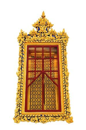 Contemporary art window temple Thailand  Stock Photo - 17605964