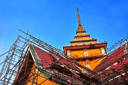 reconstruct: Reconstruct ancient Chancel in Ayutthaya architect  Thailand