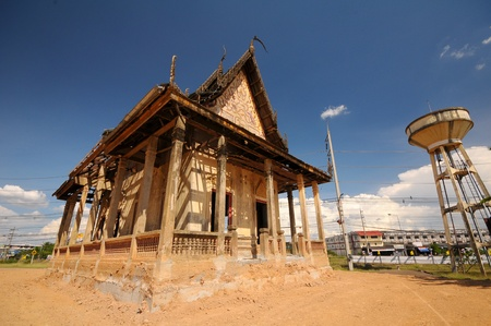 endangering: dilapidated Monastery in Thailand temple Stock Photo
