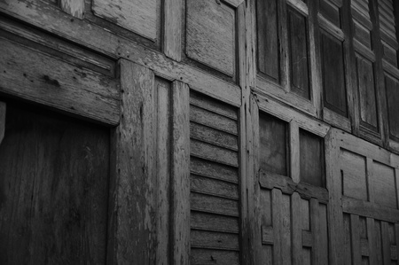 black and white ruin Wooden wall background photo