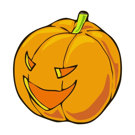 dickens: lighting Halloween pumpkin cartoon Illustration