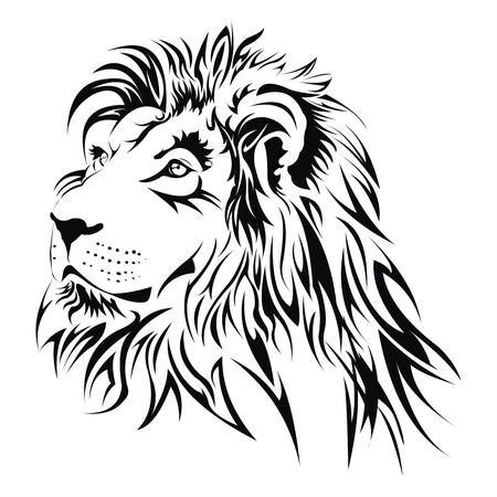 Lion tatouage de tête Banque d'images - 22295565