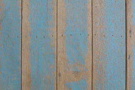 spontaneous painting: Rough blue wooden wall texture background
