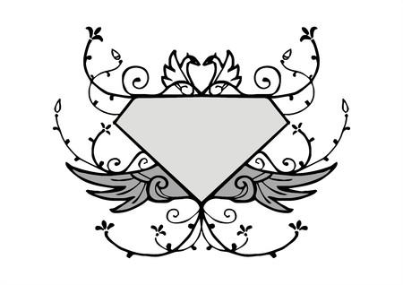 vecteur vintage style de cadre de diamant Vecteurs
