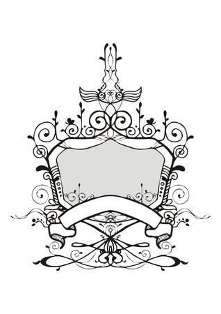 Shield Ornamentation frame vintage  style vector