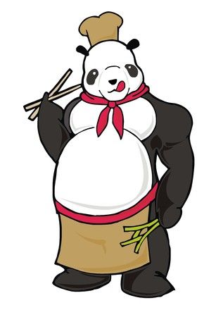beefy: chubby Panda chef cartoon character