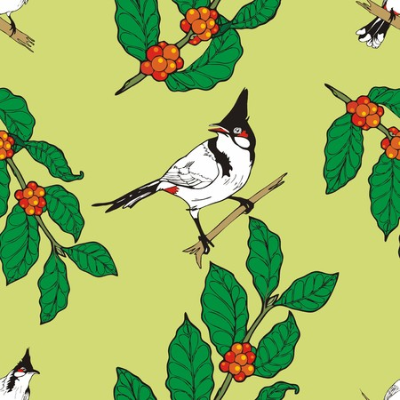 tableau curtains: Red-whiskered bulbul, bird  wallpaper