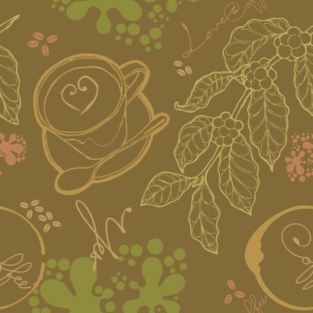 emanate: cup coffee and floral wallpaper