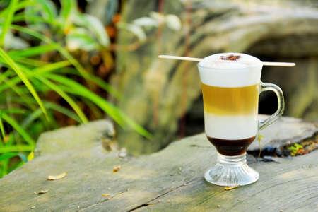 relent: caramel macchiato caldo caff� in giardino popolare