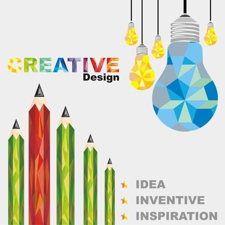 Lampes et crayon créatifs Abstrait, géométriques Banque d'images - 29694943