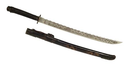 glorification: ancient Samurai sword  Stock Photo