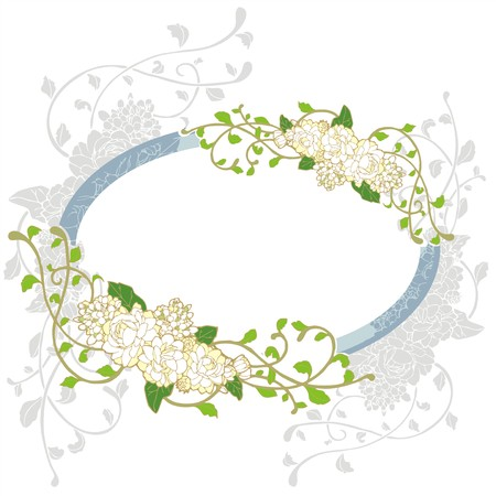 jasmine flower vintage frame greeting card