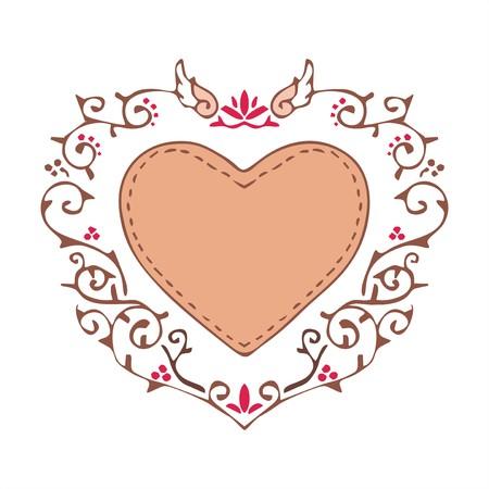 heart ornament vintage style