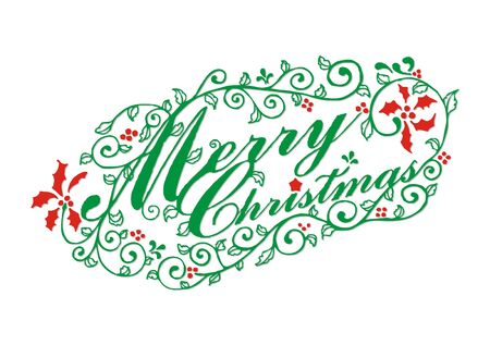 front porch: Merry Christmas typographic
