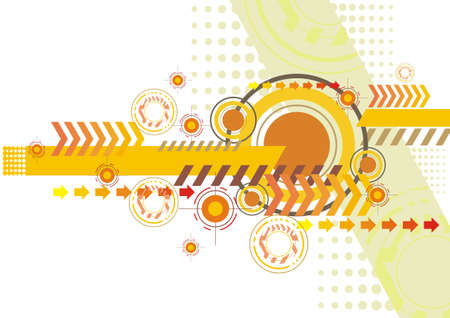 abstract wallpaper: yellow white techno abstract wallpaper background Illustration