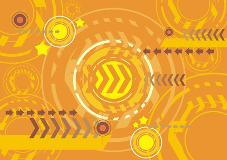 yellow techno abstract wallpaper background Vector
