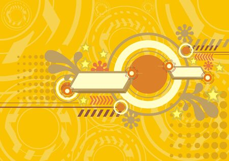 abstract wallpaper: yellow techno abstract wallpaper background Illustration