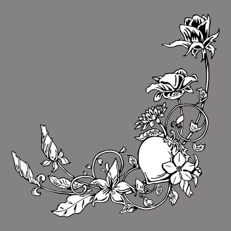 circumstantial: flower vine ornament vector