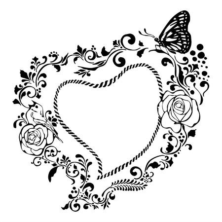 benign: tender heart vintage valentine frame