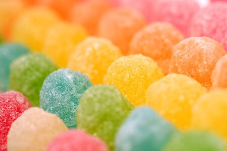 Colorful fruit jelly candy texture background Stock Photo