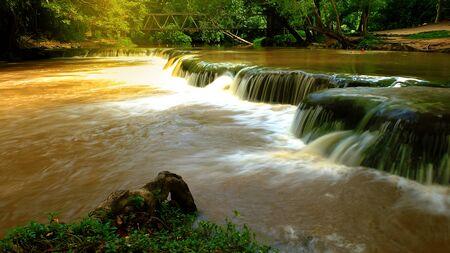 Namtok Chet Sao Noi waterfall.Natianal park waterfall in Saraburi province, Thailand Stock Photo