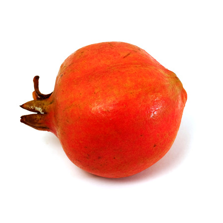 Punica granatum L. or pomegranate with white isolated background