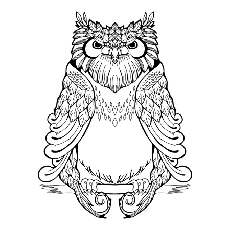 Owl tribal tattoo.