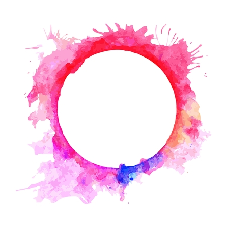 Abstract pink and violet circle frame.