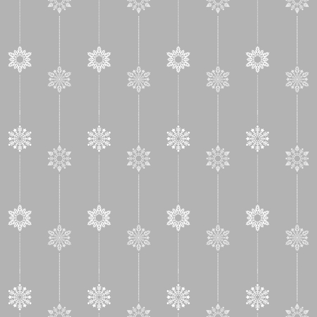frozen crystal Snowflake basic vertical line seamless pattern texture background vector  in light gray tone Illustration