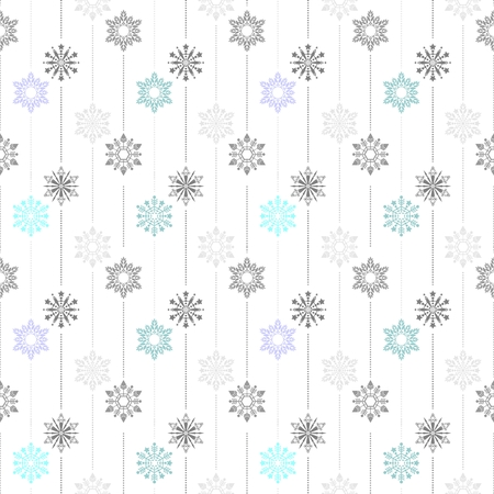frozen crystal Snowflake basic vertical line seamless pattern texture background vector  in white gray and light blue tone