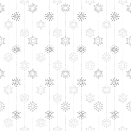 frozen crystal Snowflake basic vertical line seamless pattern texture background vector  in white gray tone