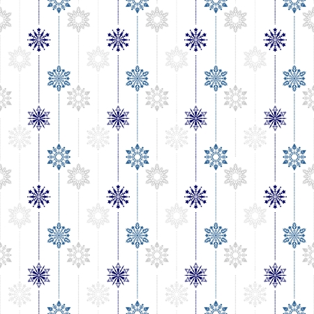 frozen crystal Snowflake basic vertical line seamless pattern texture background vector in white and blue tone