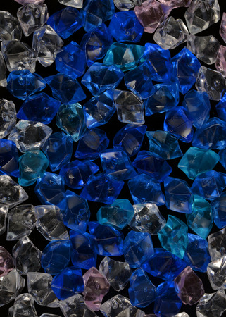 white blue  acrylic crystal stone crystal texture with dark night black background