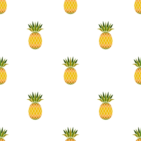 pineapple graphic seamless basic pattern vector with white background
